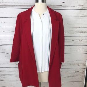 Zara Basic Red Blazer